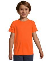 Kids` Raglan Sleeved T-Shirt Sporty